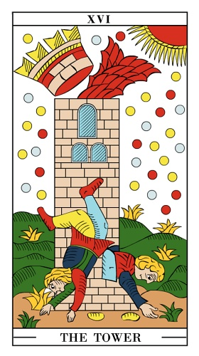 Tarot card - The Tower