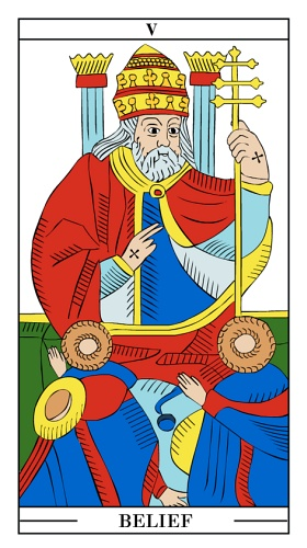 The Pope - Monthly Tarot Card