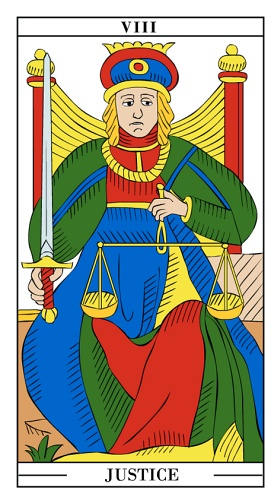 Settlement/Justice - Yearly Tarot Card