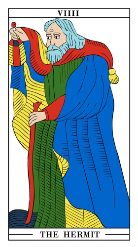 The Hermit - Monthly Tarot Card