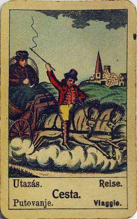 Original gypsy fortune telling card: Journey