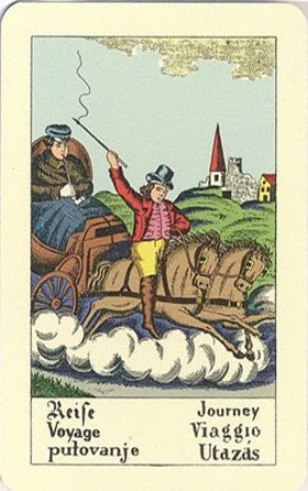 New Biedermeier fortune telling card: Journey