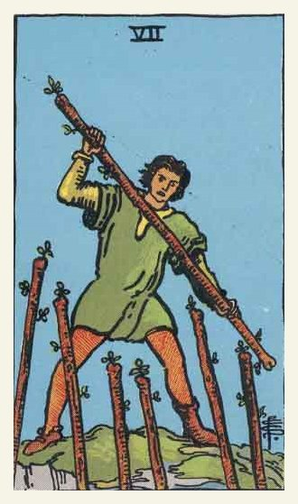 Seven of Wands Tarot card