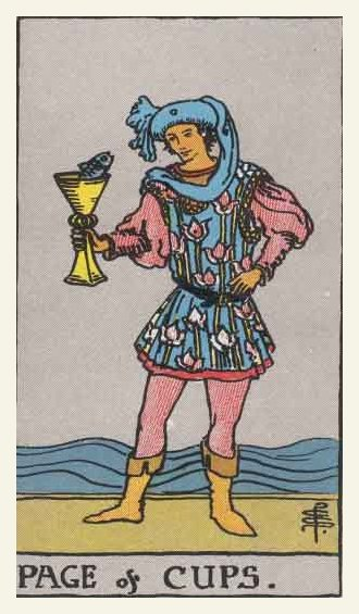 Prince (Page) of Cups Tarot card