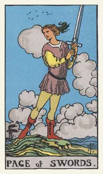 Prince (Page) of Swords Tarot card