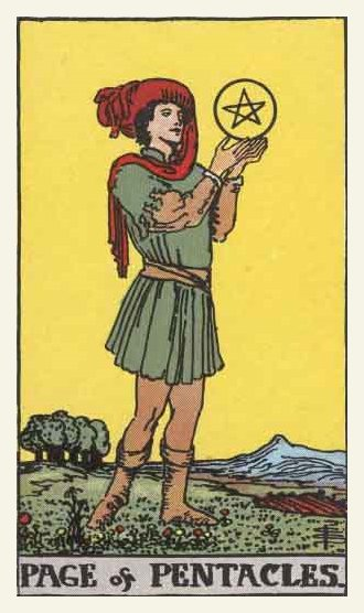 Prince (Page) of Pentacles Tarot card